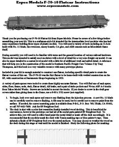 F-70-10 Flatcar Instructions