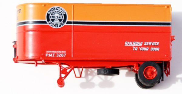 Two Plain Side 22' Round-Nose Daylight PMT Trailers