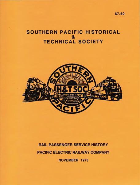 Rail Passenger Service History - Pacific Electric Railway Co.